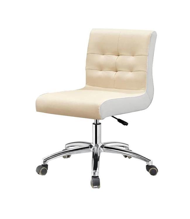 SNS  FURNITURE Two Tone Cream Technician Chair