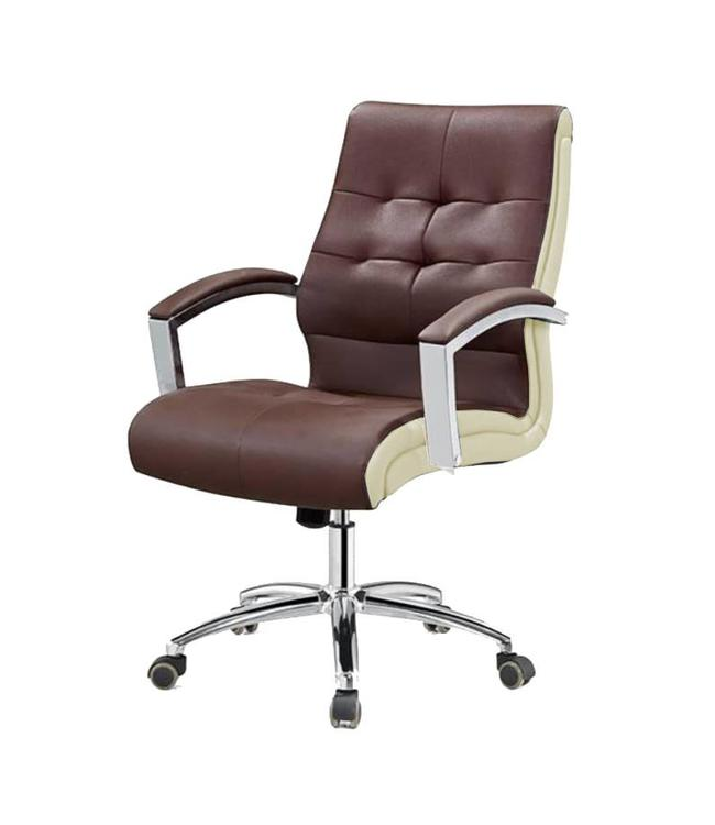 SNS  FURNITURE TWO TONE Chocolate  Client Chair