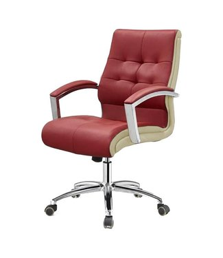 SNS  FURNITURE TWO TONE Burgundy  Client Chair