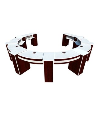 SNS  FURNITURE SNS CP102  Round  Shape Nail Table With  Pipe