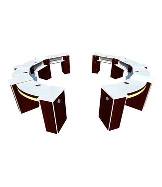 SNS  FURNITURE SNS #CP100  Moon Shape Nail Table With Pipe