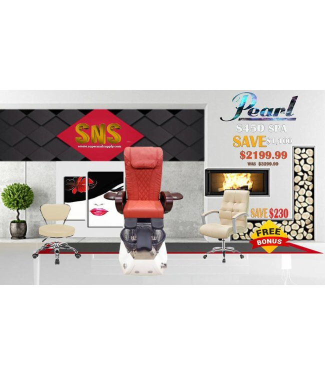 SNS  SPA CHAIR Pearl  S450 Red Spa Chair