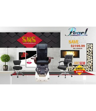 SNS  SPA CHAIR Pearl S450 Black Spa Chair