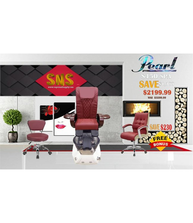 SNS  SPA CHAIR Pearl S450 Burgundy Spa Chair