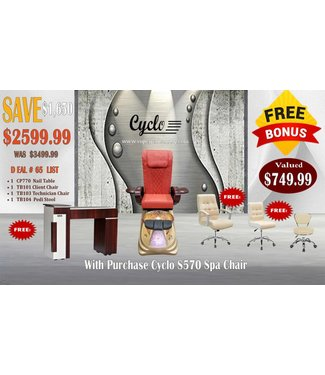 SNS  SPA CHAIR FURNITURE DEAL # 65 RED