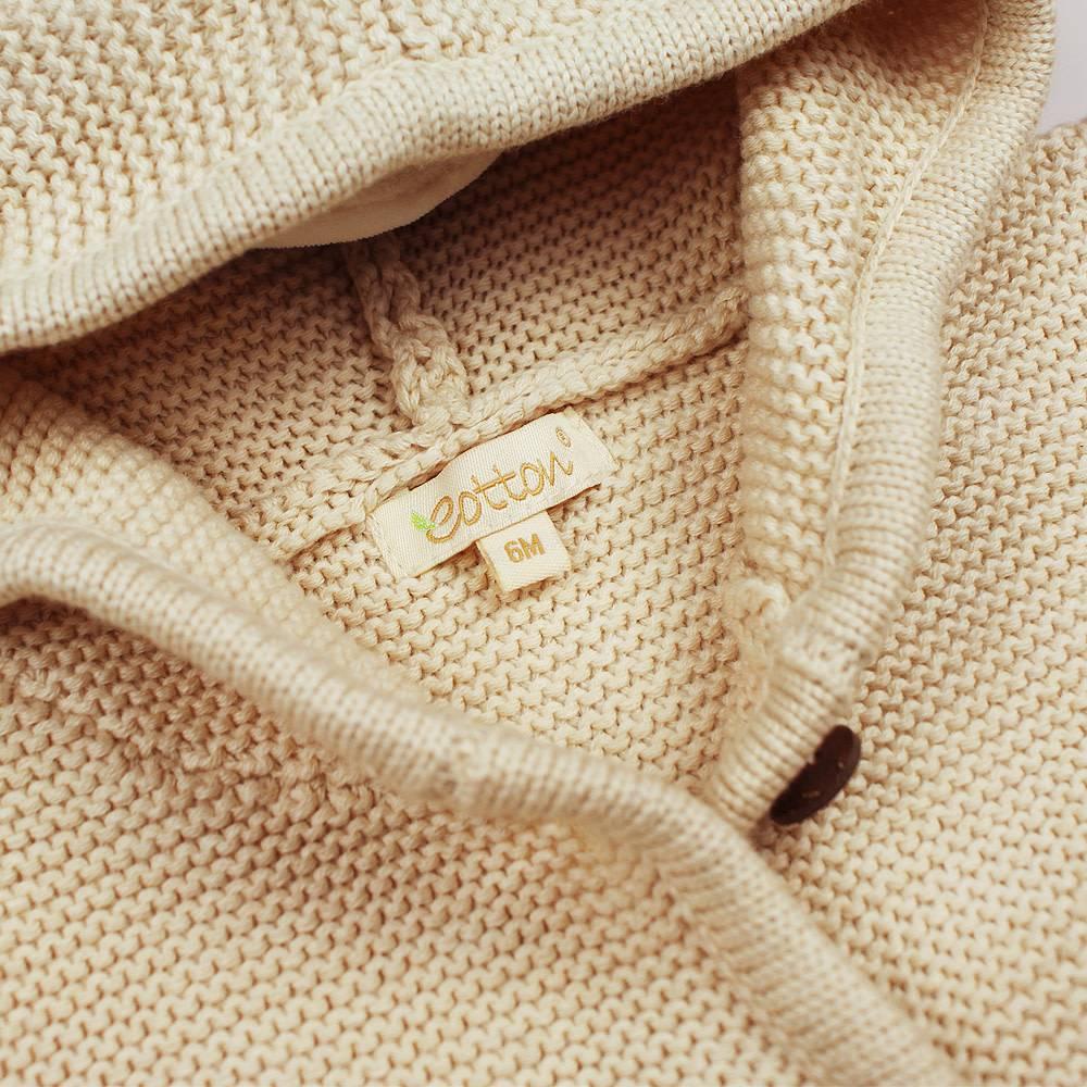 db19b316813 Organic Unisex Cable Knit Hooded Sweater - mommiganics