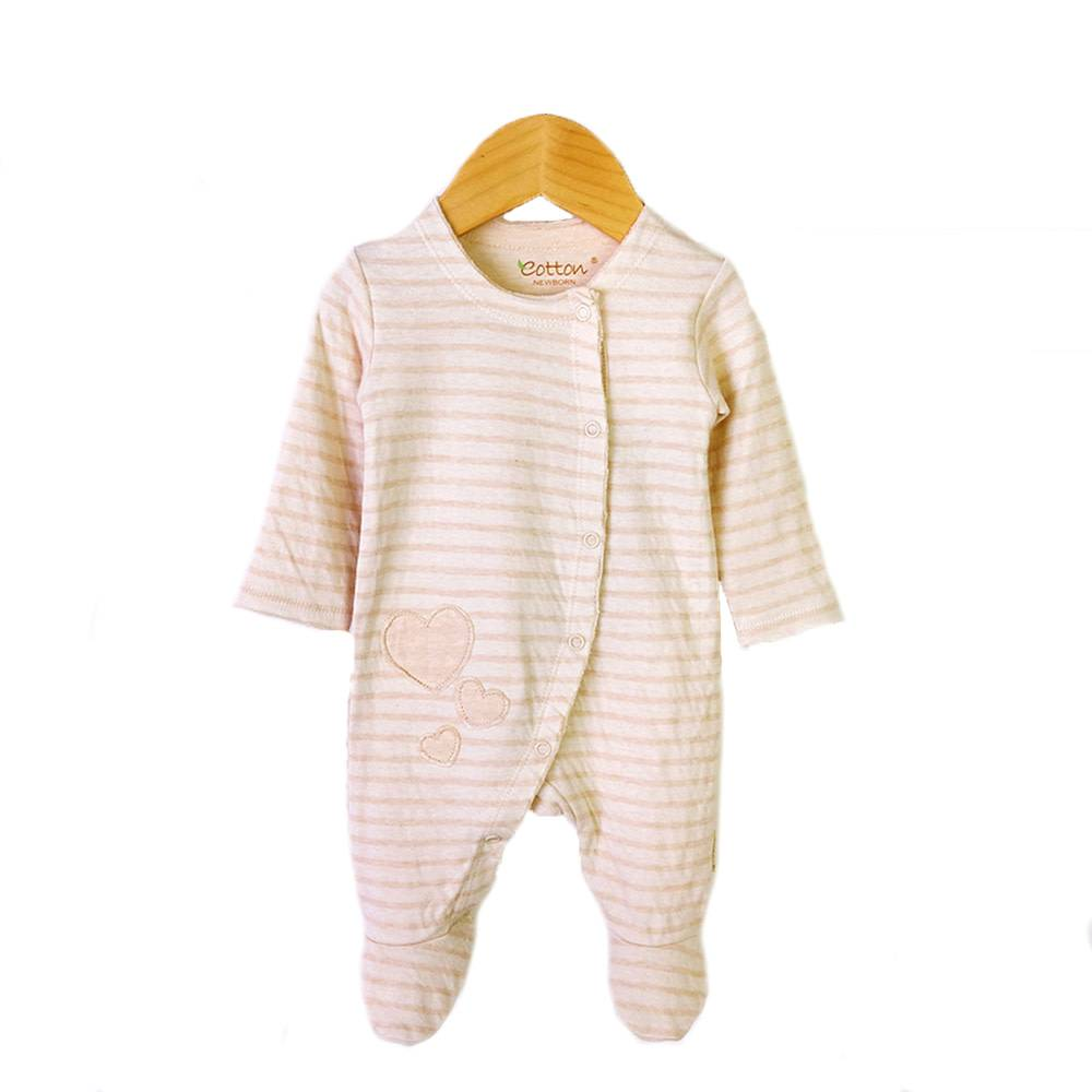 enlee Certified Organic Unisex Baby Footed Onepiece