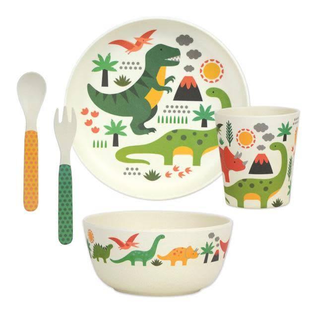 Petit Collage Dinosaurs 5pc Bamboo Dinner Set