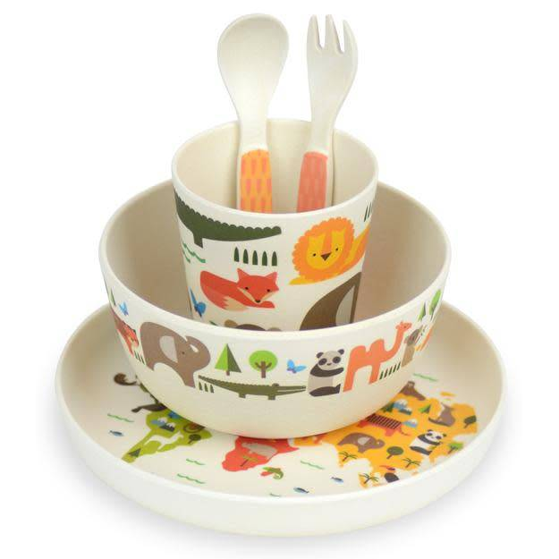 Petit Collage Our World 5pc Bamboo Dinner Set
