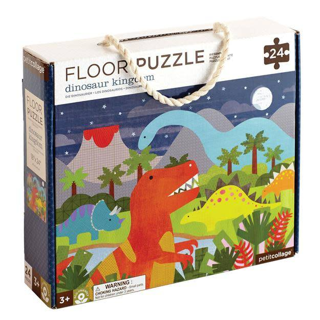 Petit Collage Dinasour Kingdom Floor Puzzle