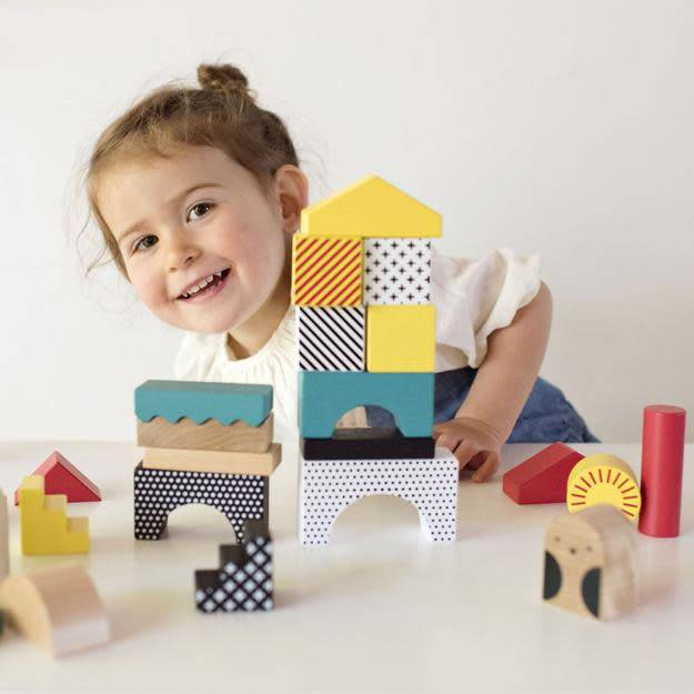 Petit Collage Animal Town Wooden Building Blocks