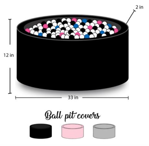 BabyLu & Co BabyLu+Co Black Ball Pit