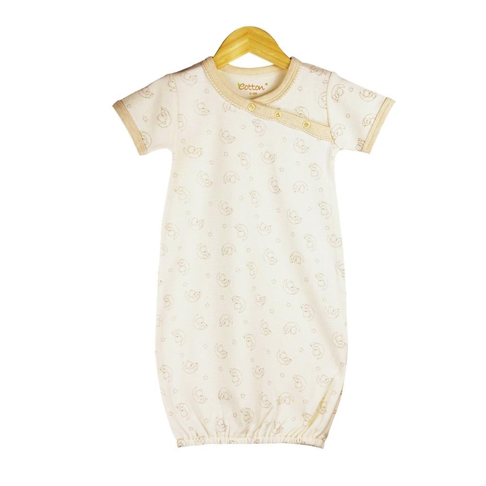 Eotton Certified Organic Unisex Baby Short Sleeve Sleeping Gown