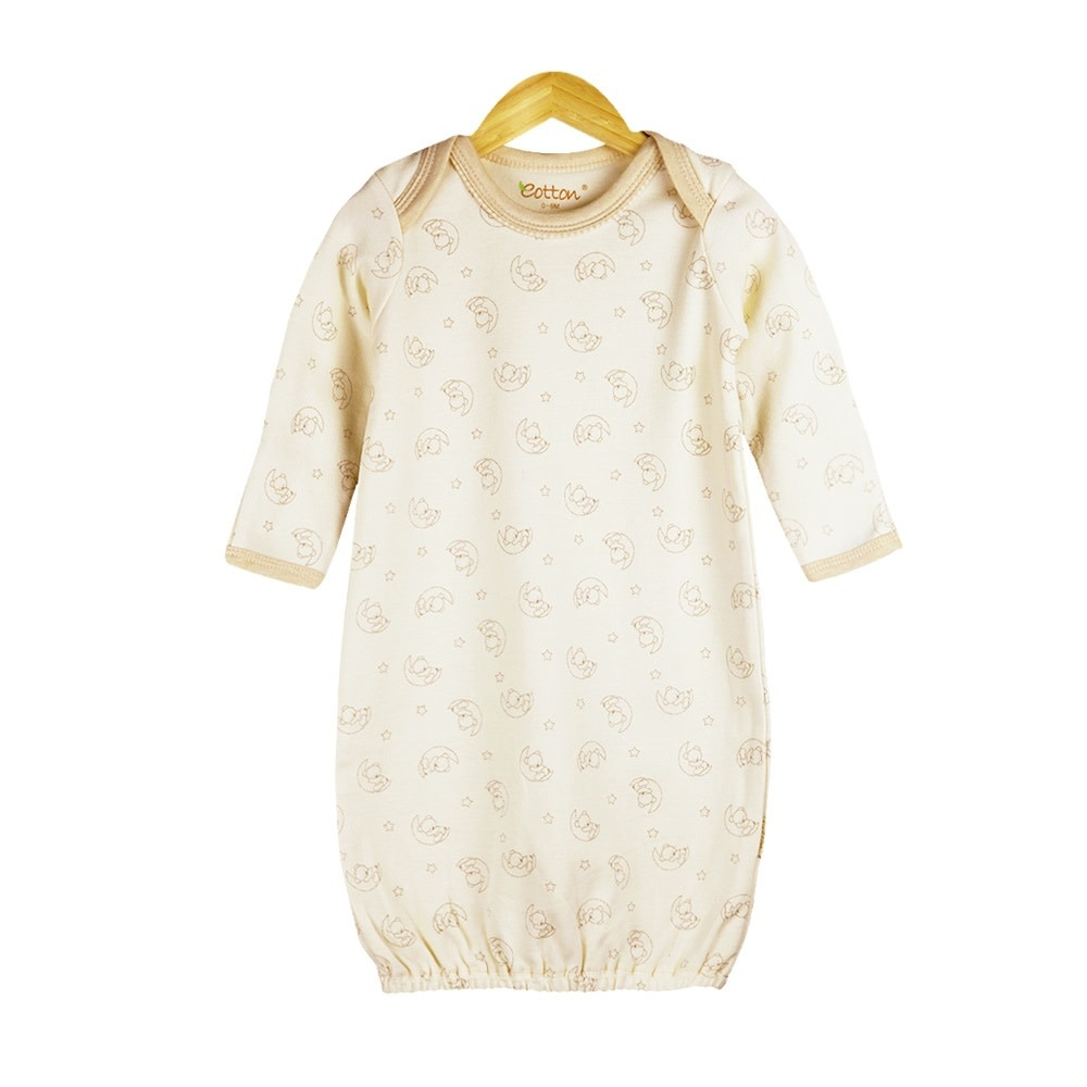 Eotton 7B1BS Organic L/S Sleeper Gown