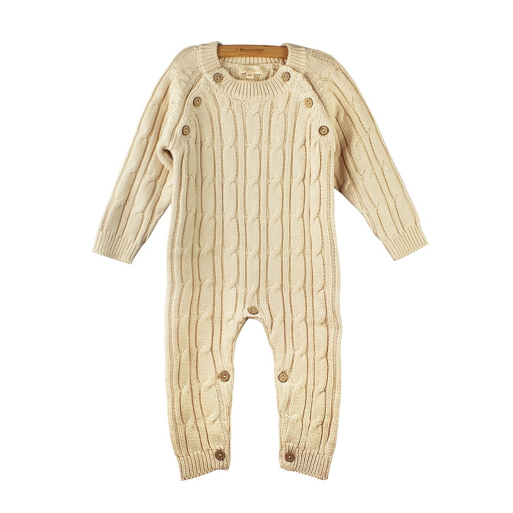 enlee Certified Organic Unisex Baby Toddler Knitted Romper