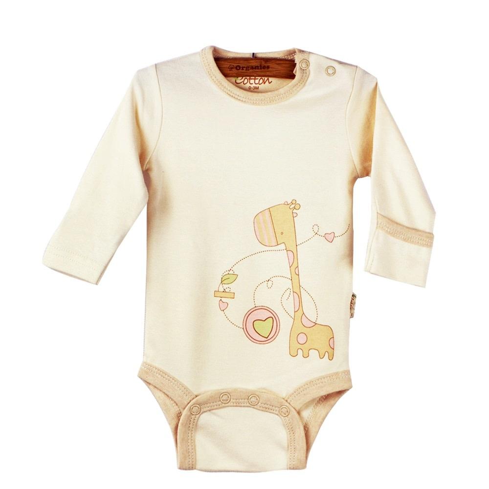 Eotton Certified Organic Unisex Baby Long Sleeve Bodysuit