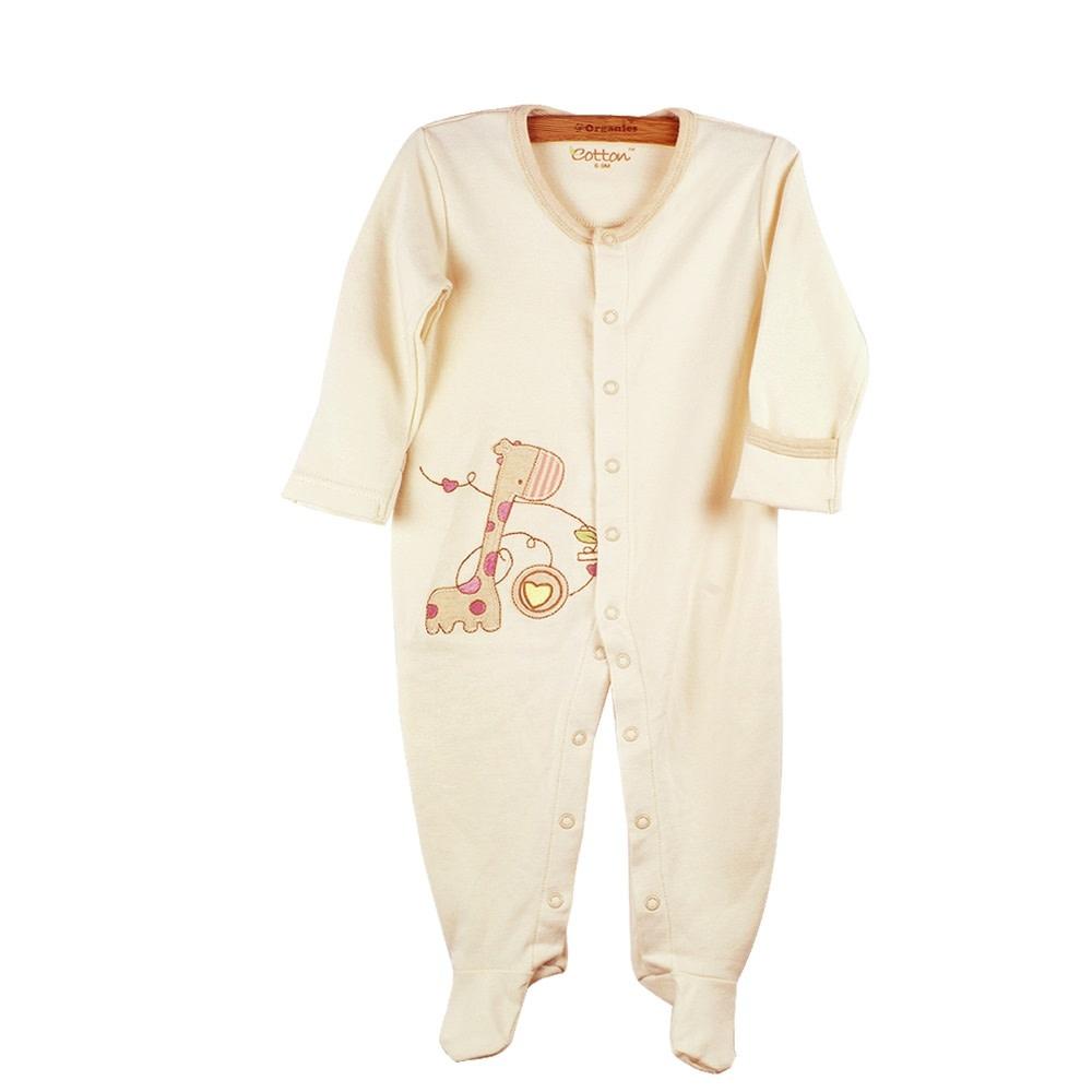 enlee Certified Organic Unisex Baby Long Sleeve One-Piece
