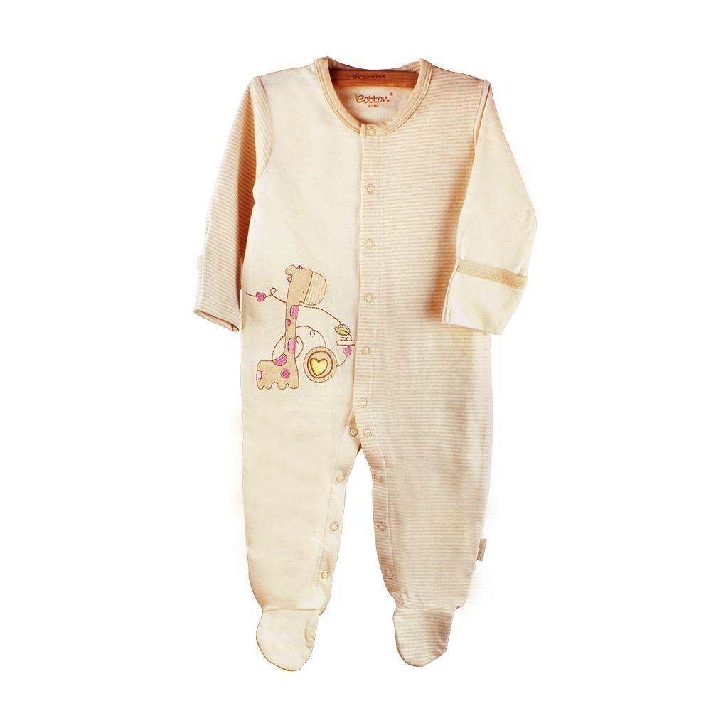 Eotton Certified Organic Unisex Baby Long Sleeve One-Piece