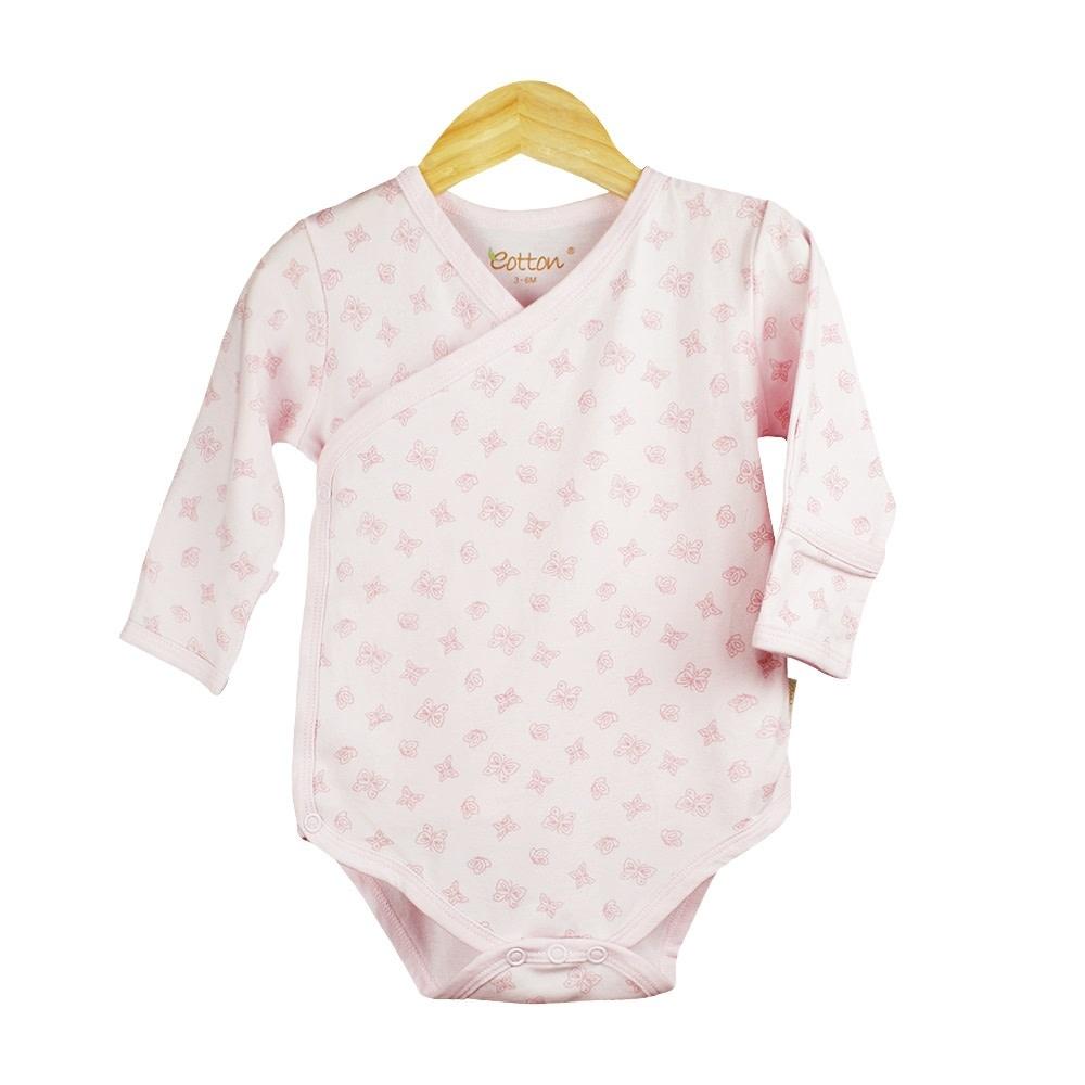 5cb259b1fbf75 Certified Organic Baby Girl Long Sleeve Kimono Bodysuit - mommiganics