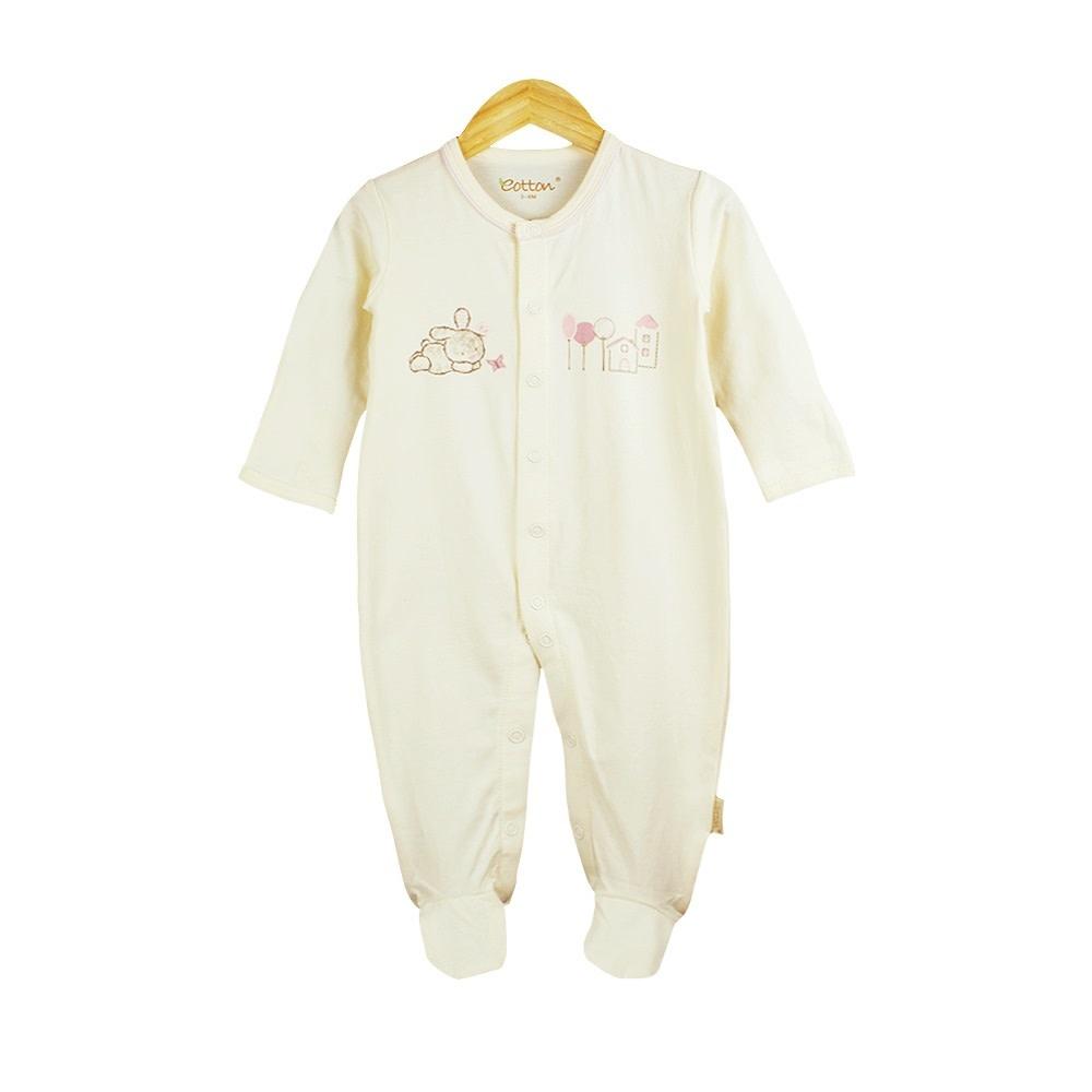 enlee Certified Organic Baby Girl Toddler One-Piece Sleep N' Play