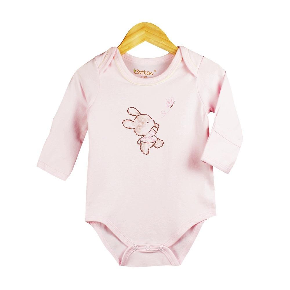 enlee Certified Organic Baby Girl Long Sleeve Bodysuit