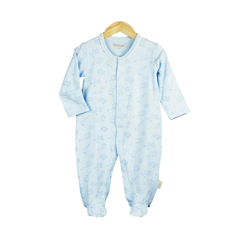 Eotton Certified Organic Baby Boy Sleep N' Play