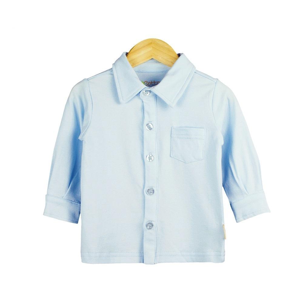 enlee Certified Organic Baby Boy Dress Shirt