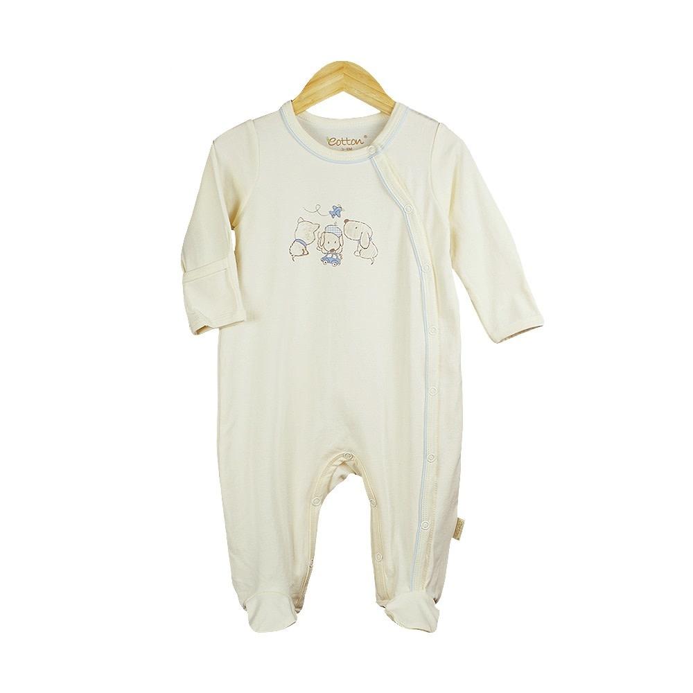 enlee Certified Organic Baby Boy Sleep N' Play