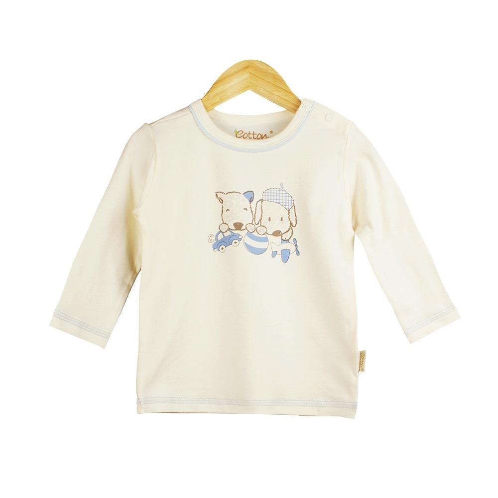 Eotton Certified Organic Baby Toddler Boy Long Sleeve Tee Top