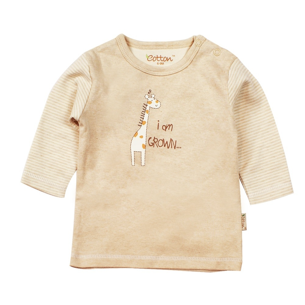 enlee Certified Organic Baby Toddler Long Sleeve Tee