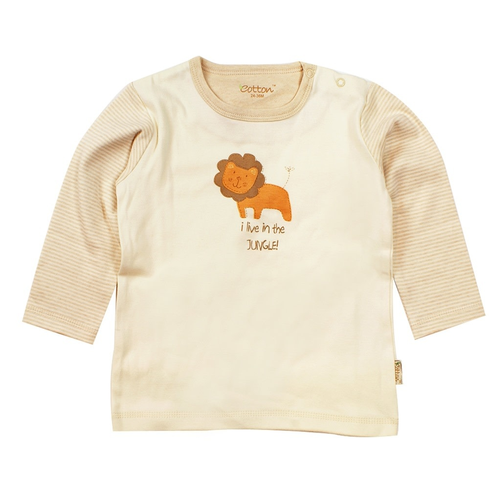 Eotton Certified Organic Baby Toddler Long Sleeve Tee