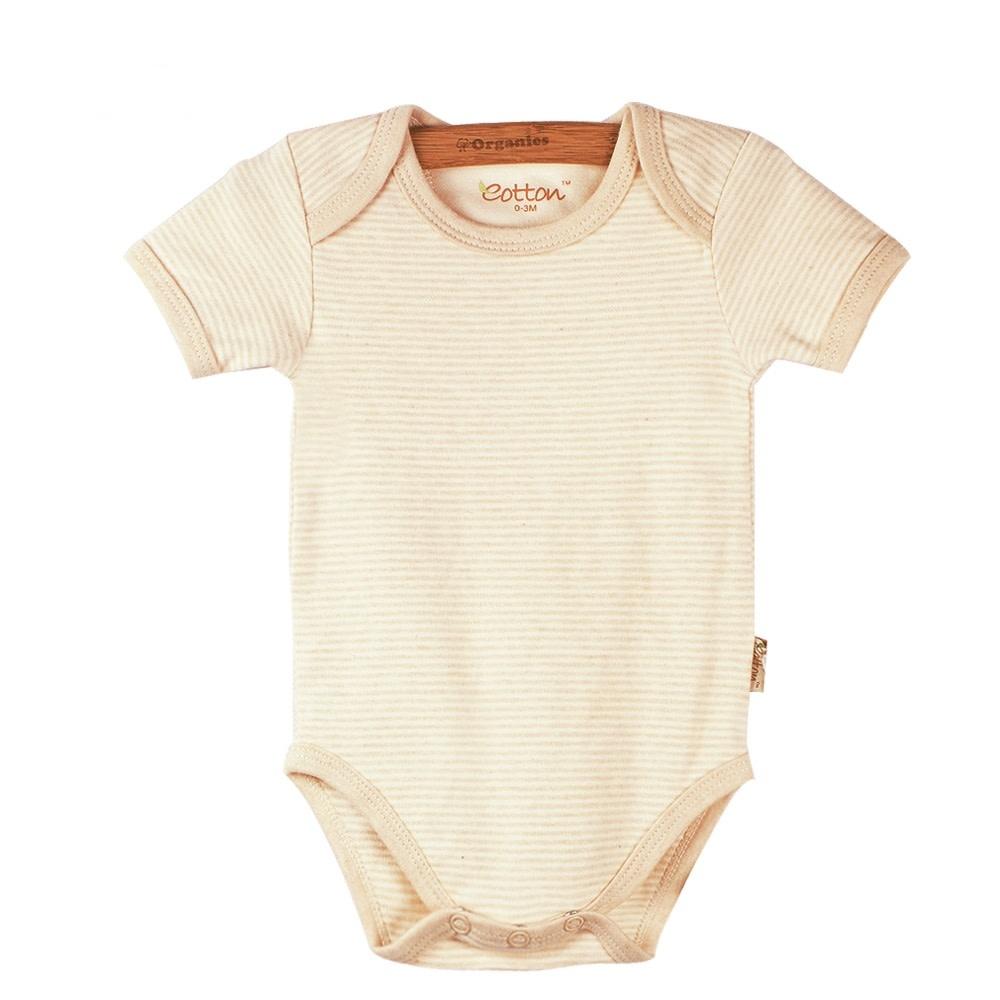 enlee Certified Organic Unisex Baby Short Sleeve Bodysuit