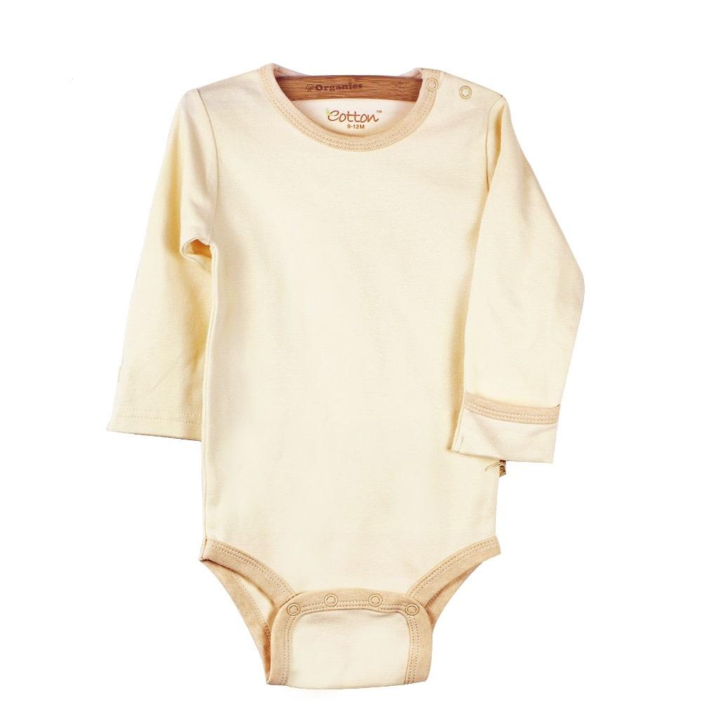 enlee Certified Organic Unisex Baby Long Sleeve Bodysuit