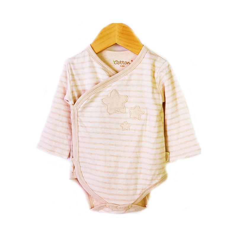 enlee Certified Organic Unisex Baby Long Sleeve Kimono Bodysuit
