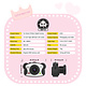 KINGXBAR KINGXBAR Kid's Digital Camera with 8GB SD Card, Black
