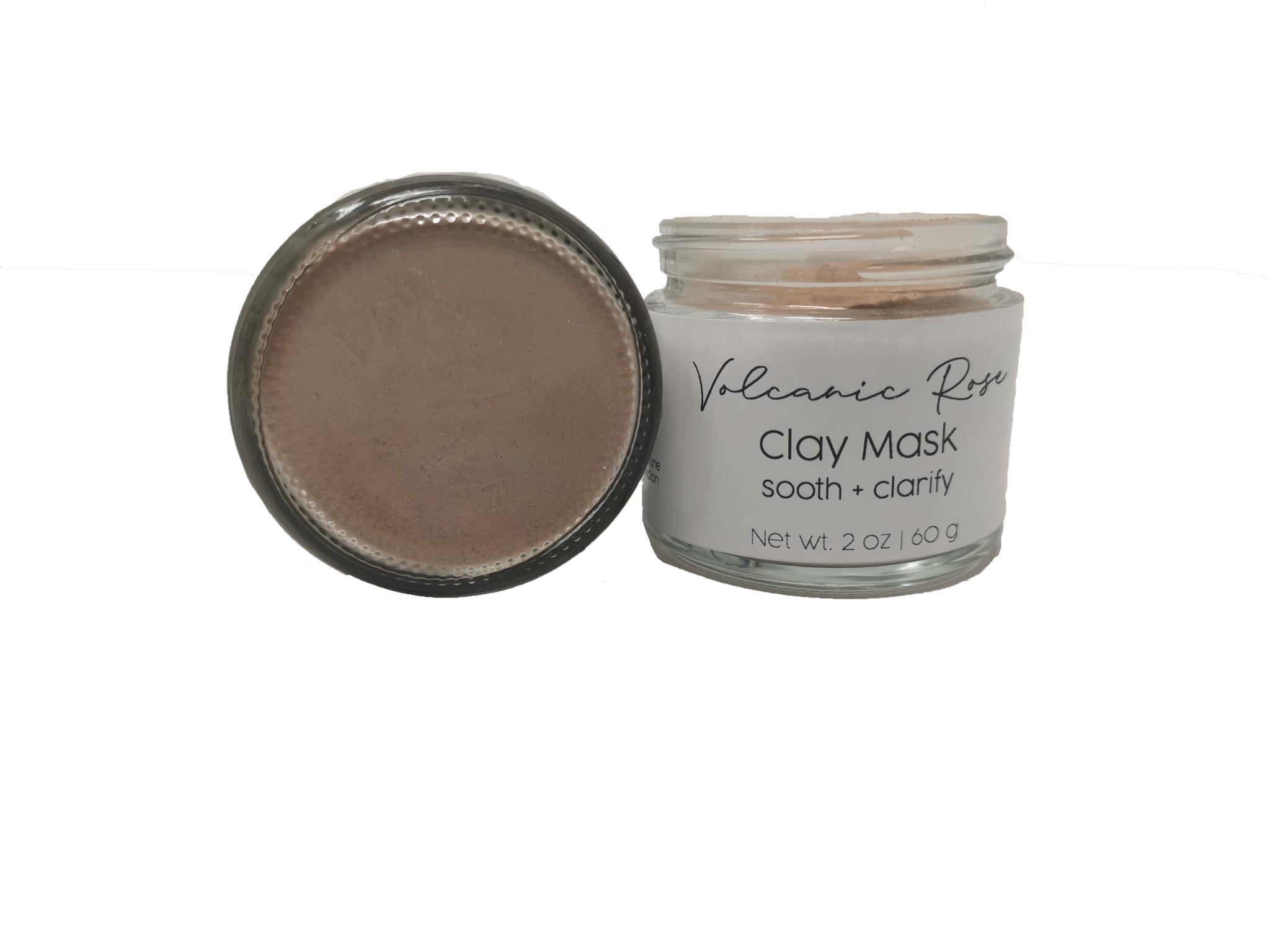 mommiganics Volcanic Rose Clay Mask, 60g