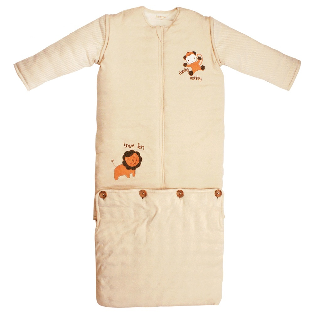 enlee Certified Organic Extendable Sleeping Bag for 1-12 Years Old