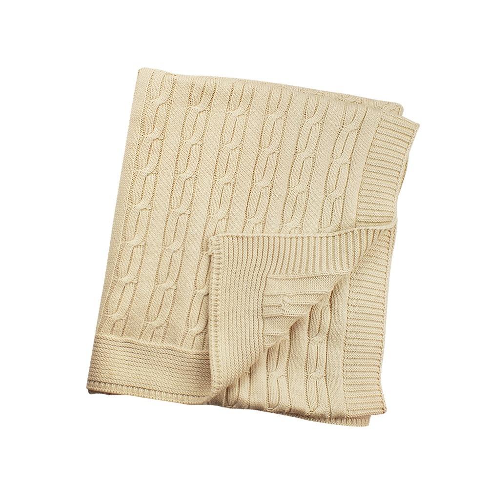 enlee Certified Organic Knitted Blanket