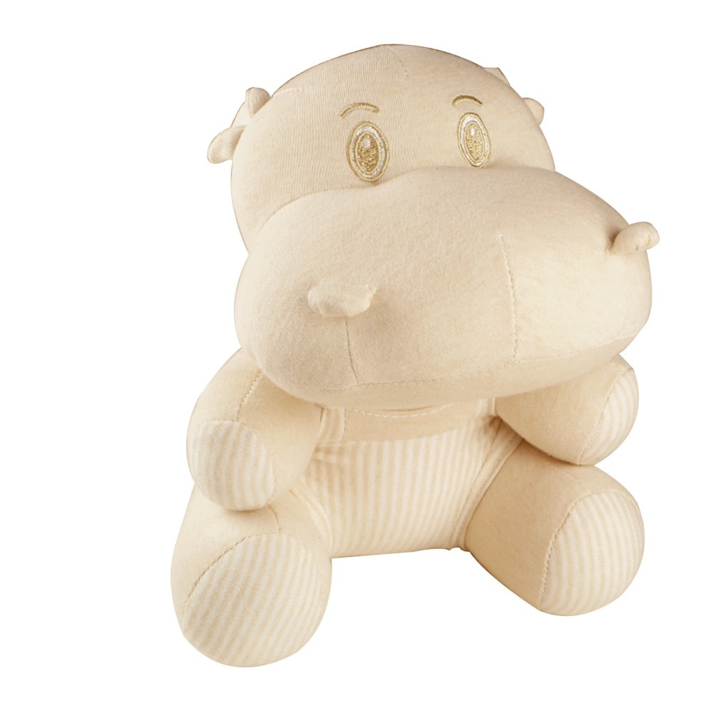Certified Organic Plush Toy, Hippo