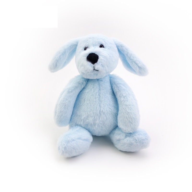 enlee Certified Organic Plush Toy, Blue Puppy