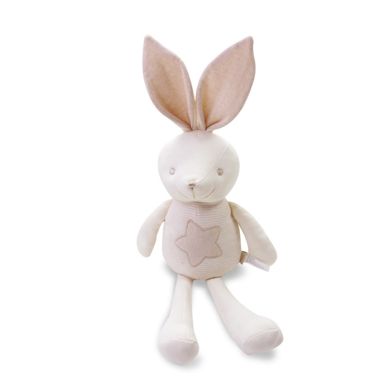 enlee Certified Organic Plush Toy, Tall Bunny