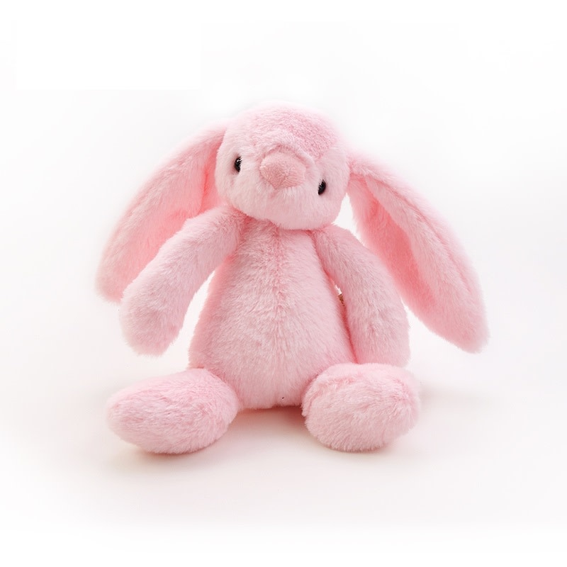 Certified Organic Plush Toy, Pink Bunny