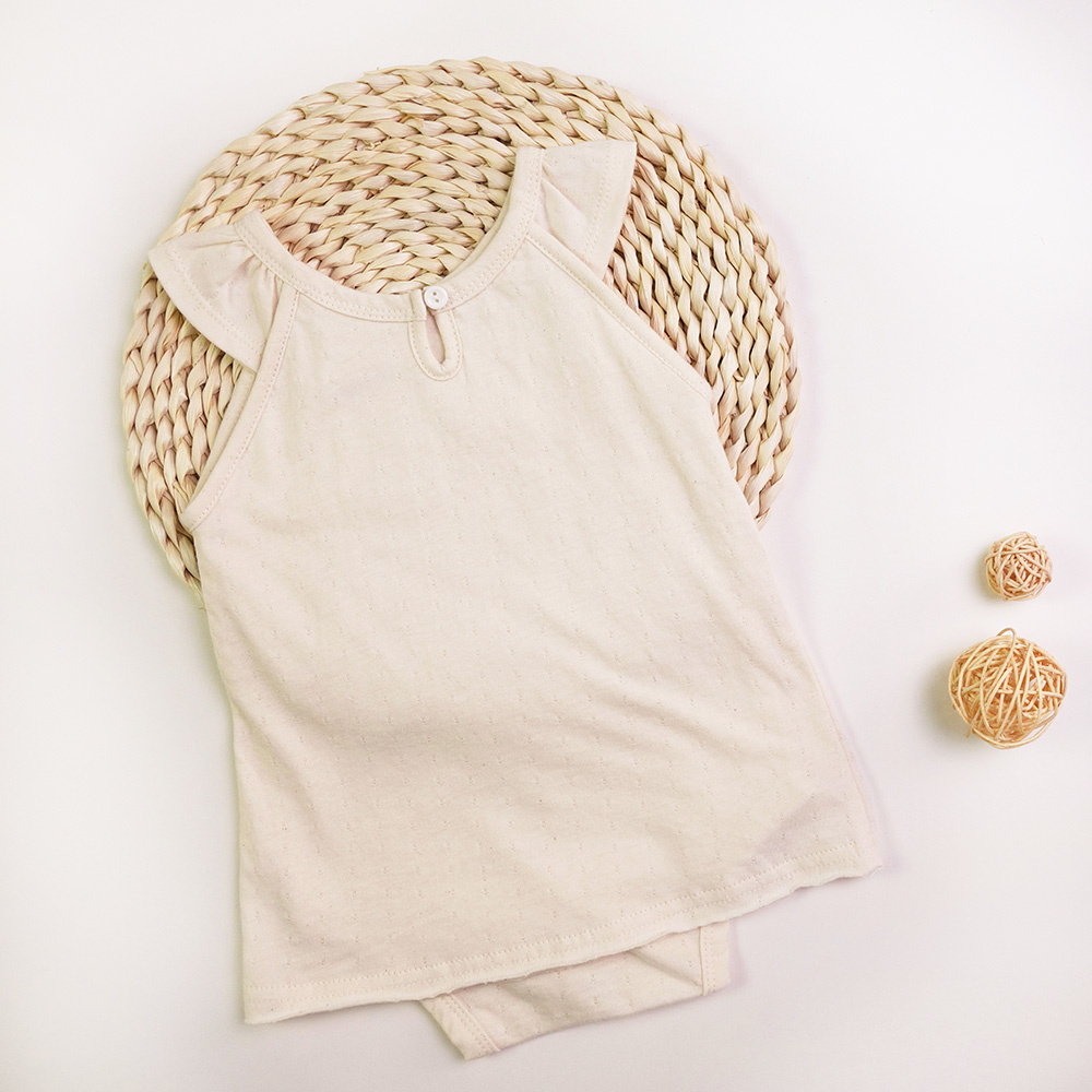 Certified Organic Baby Girl Bodysuit Dress
