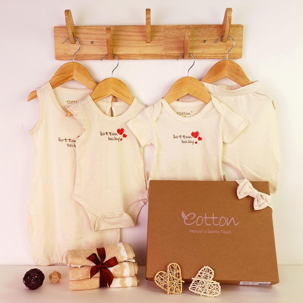 Certified Organic Baby Girl Newborn 8pc Set