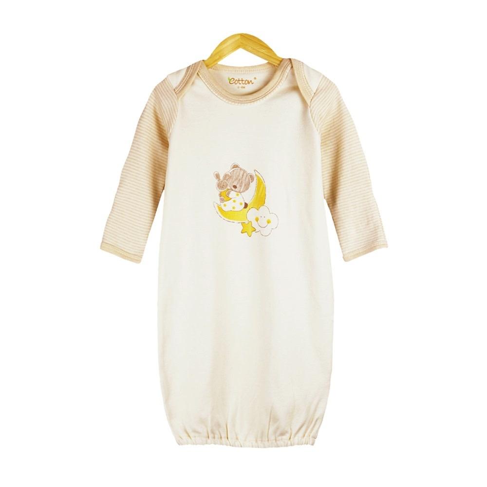 enlee Certified Organic Unisex Long Sleeve Sleeping Gown