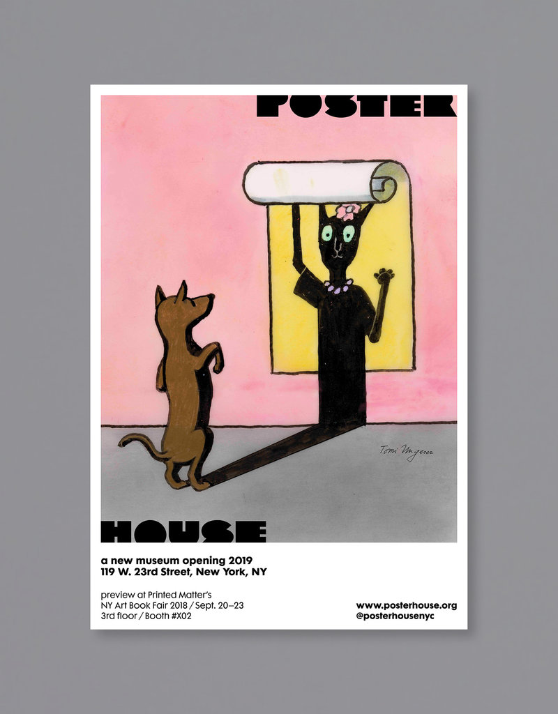 POSTER HOUSE Tomi Ungerer Poster House P.S. 1 Bookfair (Cat/Dog)
