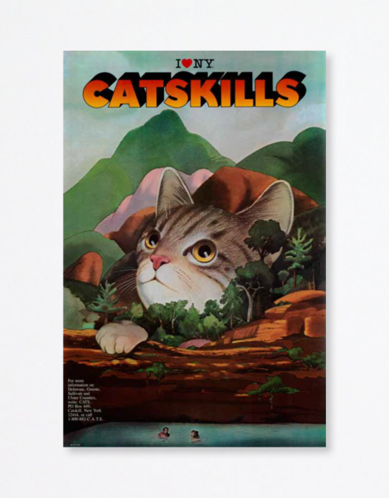 Milton Glaser Studio I Love New York Catskills Poster