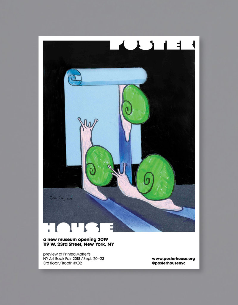 POSTER HOUSE Tomi Ungerer Poster House P.S. 1 Bookfair (Snails)