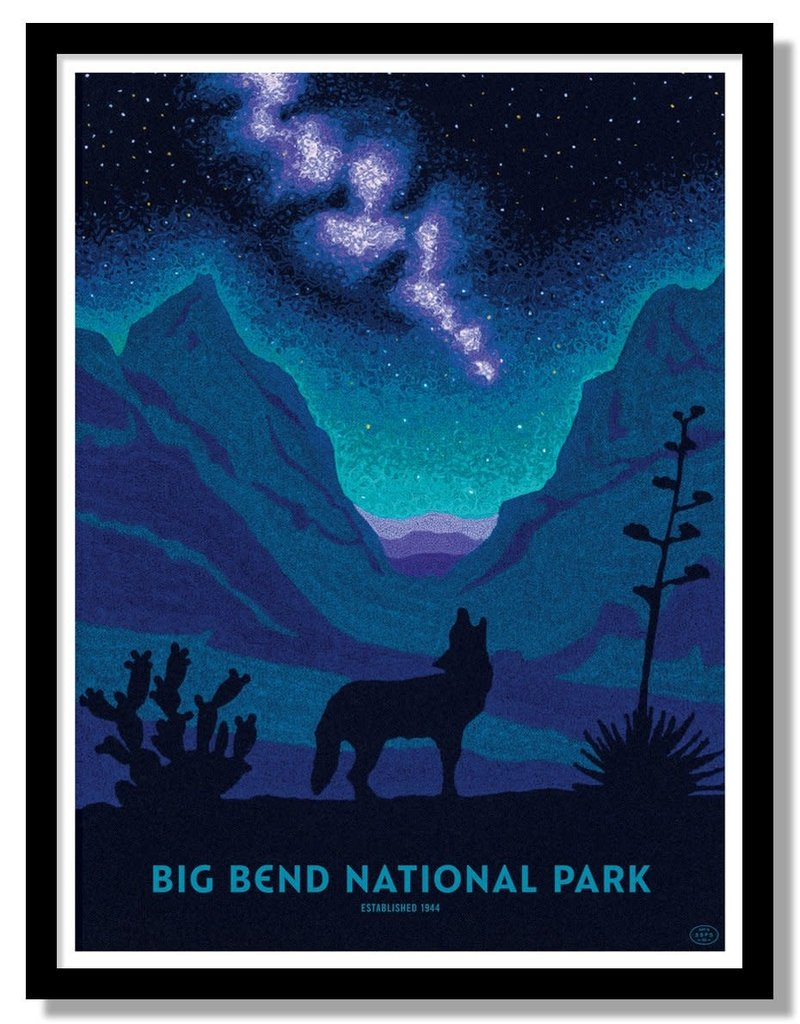 Fifty-nine Parks Big Bend National Park Poster (Night Sky) by Ft. Lonesome