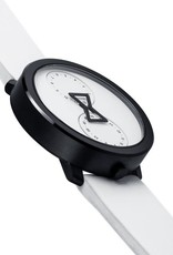 NU:RO NU:RO Watch with White Leather Band